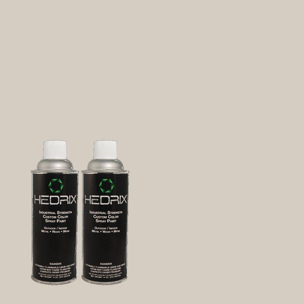 Hedrix 11 oz. Match of Gentle Rain 790E-2 Low Lustre Custom Spray Paint (2-Pack)