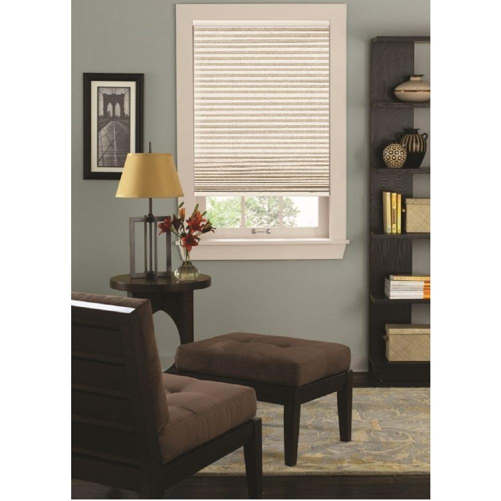 Sandstone 9/16 in. Cordless Blackout Cellular Shade - 59.5 in. W