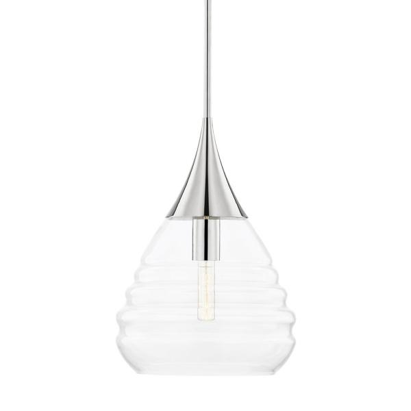 Marissa 1-Light Polished Nickel Geometric Pendant