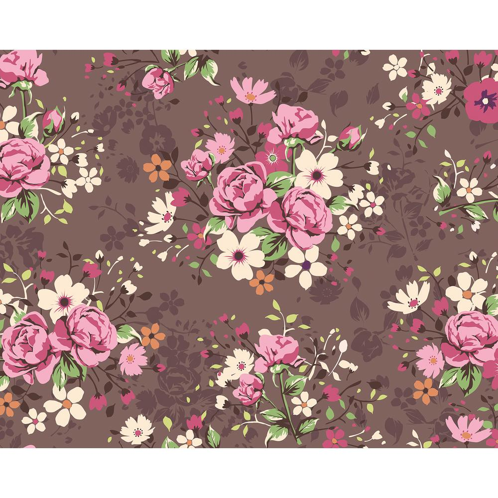 Illustration of Rose Bouquets Wall Mural