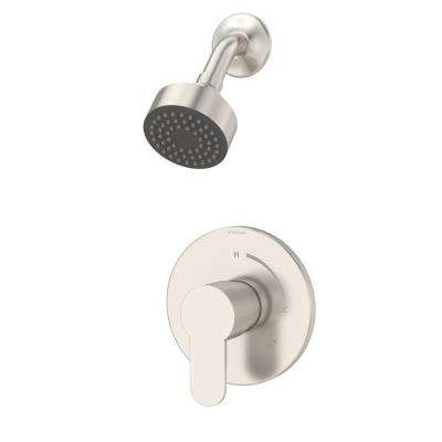 Identity 1-Handle Shower Faucet Trim Kit in Satin Nickel (Valve Not Included)
