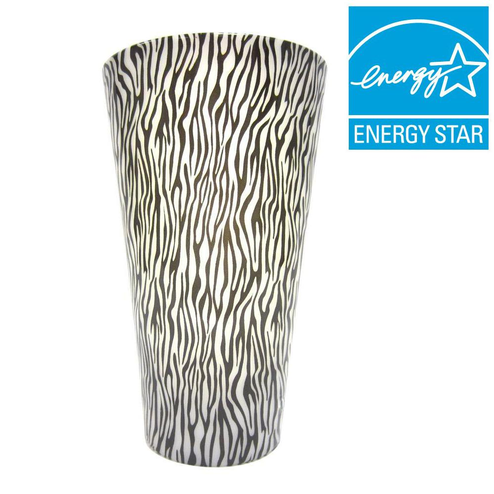 It's Exciting Lighting Vivid Series Zebra Style Indoor/Outdoor Battery Operated 5-LED Sconce