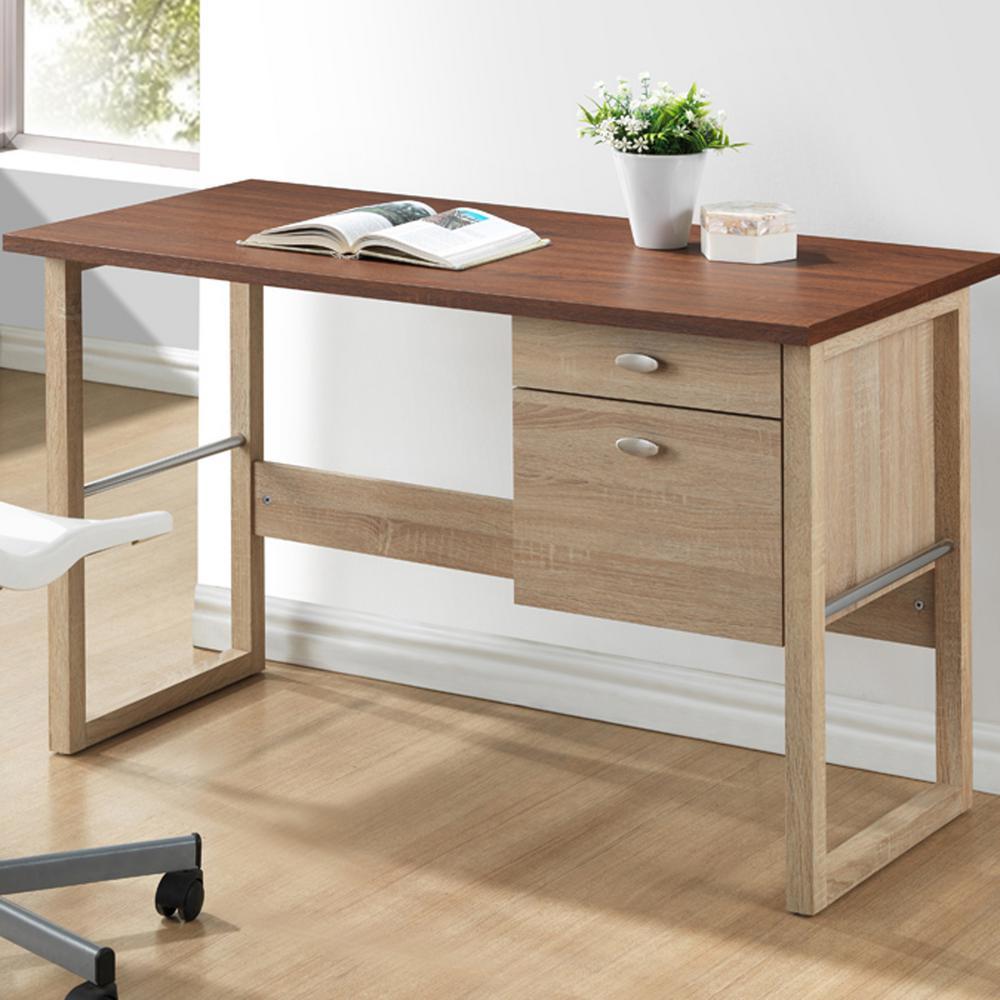 Baxton studio van contemporary white finished wood desk
