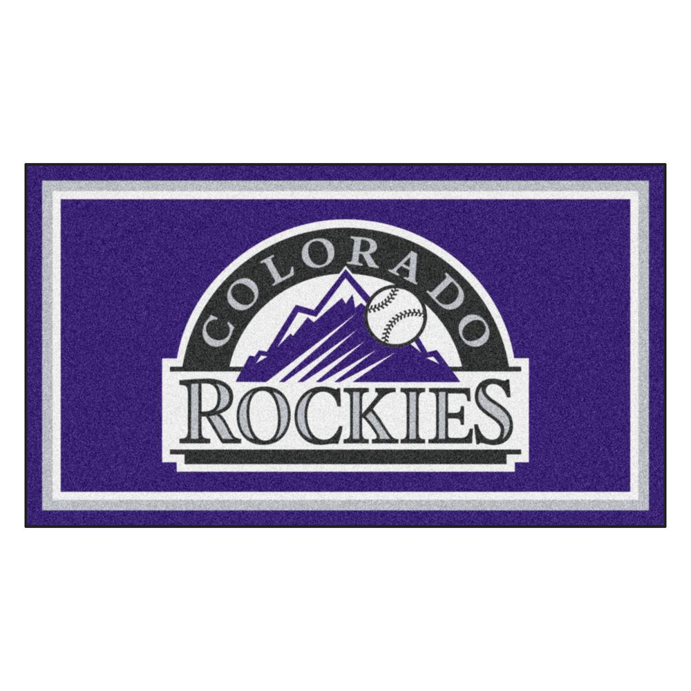 MLB - Colorado Rockies 3 ft. x 5 ft. Ultra Plush Area Rug
