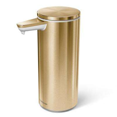 9 oz. Rechargeable Sensor Soap Pump in Brass Stainless Steel