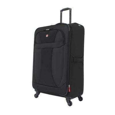 29 in. Lightweight Spinner Suitcase in Black