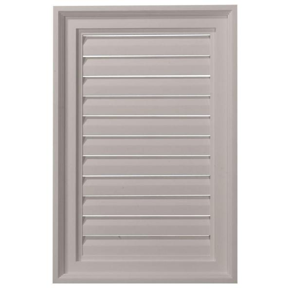 16 in. x 24 in. Rectangular Primed Polyurethane Paintable Gable Louver Vent Functional