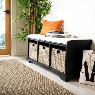 Lonan Black Storage Bench