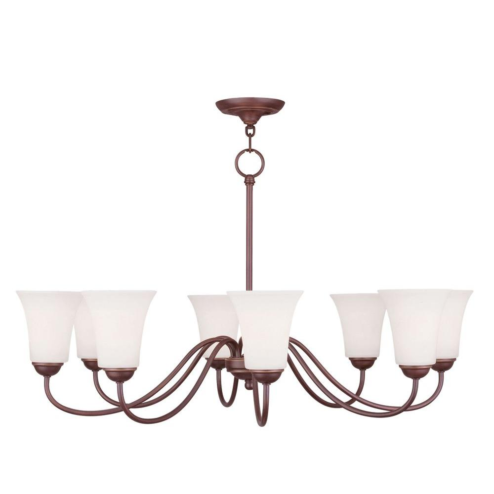Livex Lighting Providence 8-Light Vintage Bronze Incandescent Ceiling Chandelier
