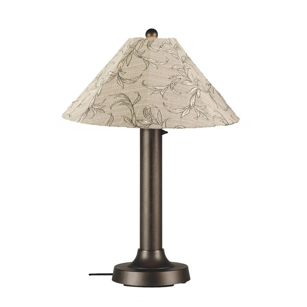 Catalina 34 in. Bronze OutdoorTable Lamp with Bessemer Shade