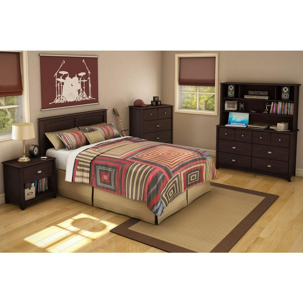 South Shore Willow Collection 54 in. Full Headboard in Havana