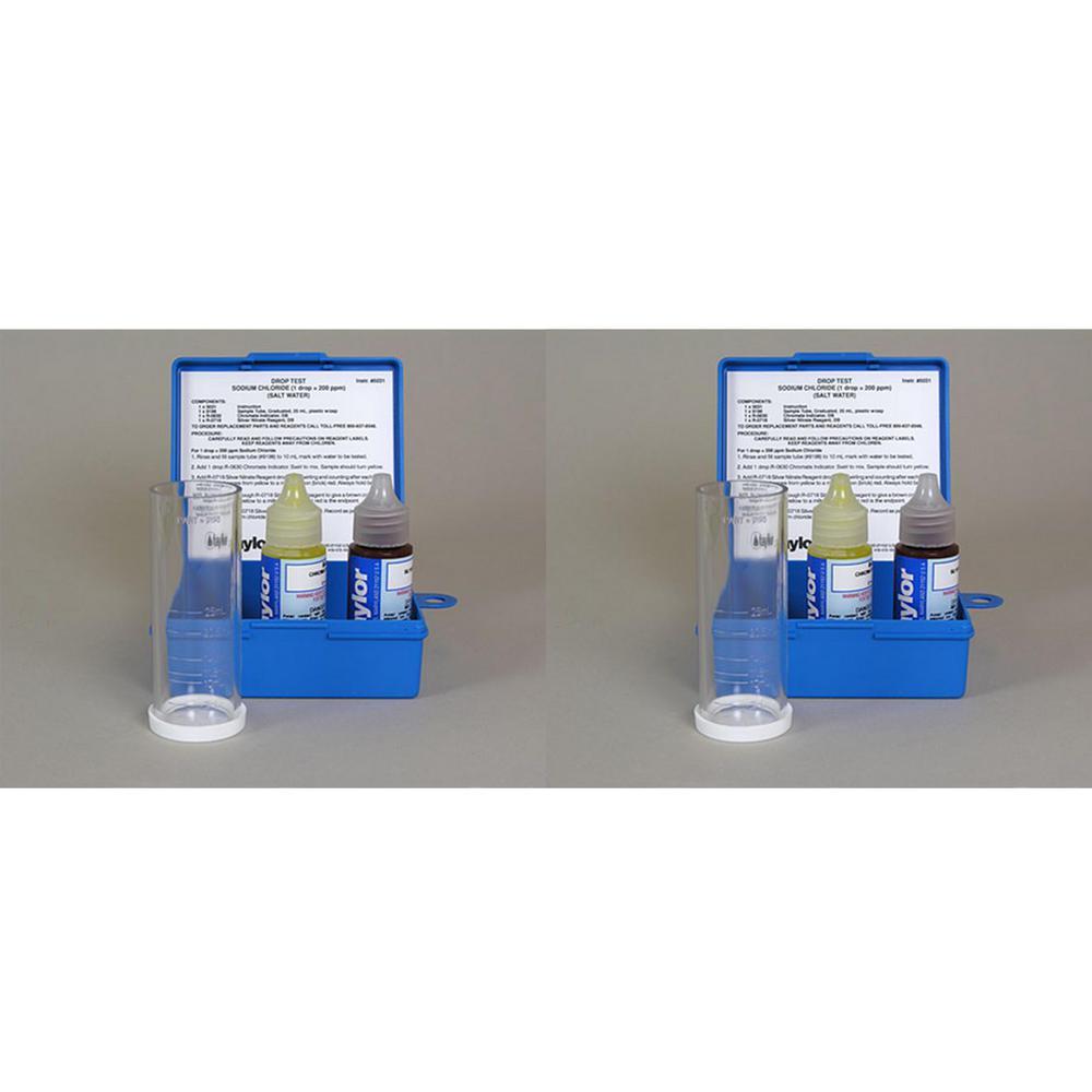 Liquid Pool Spa Sodium Chloride Salt Water Drop Test Kit (2-Pack)