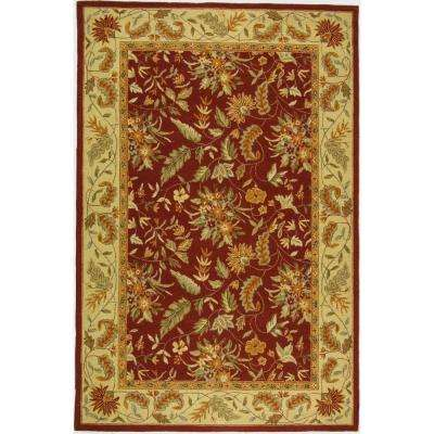 Chelsea Red 5 ft. 3 in. x 8 ft. 3 in. Area Rug