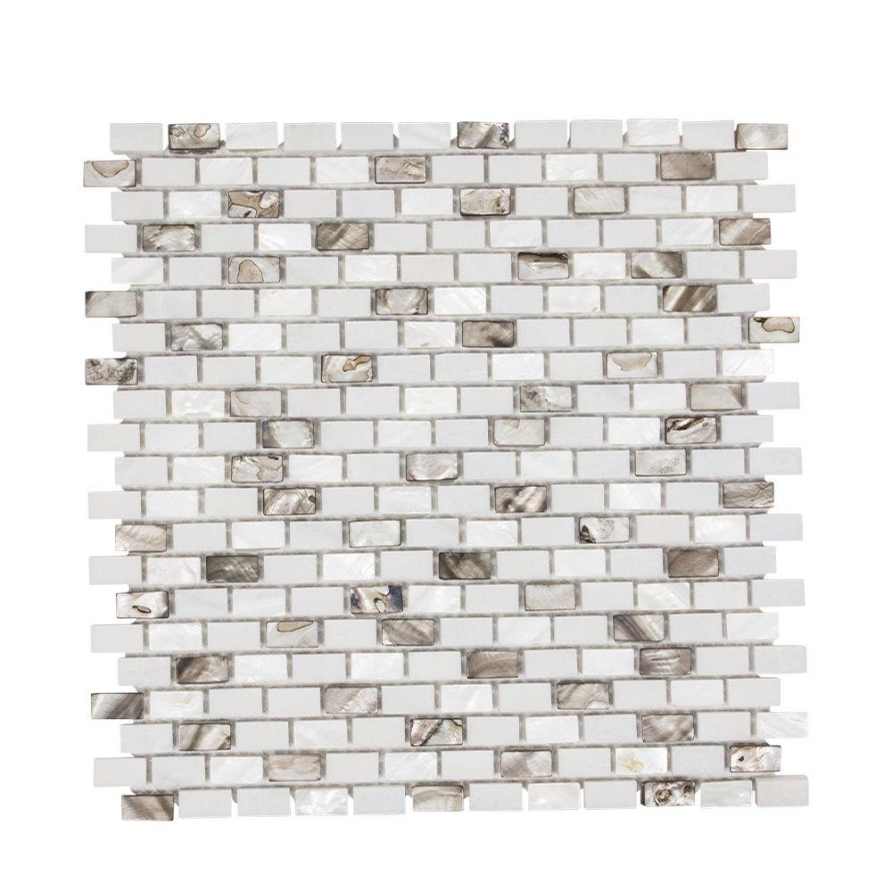 Jeffrey Court Lucky Cove 12.25 In. X 12 In. X 8 Mm Glass