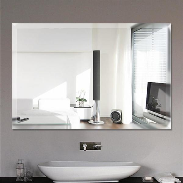 Neu Type Rectangel Simple Large Beveled Glass Wall Mounted Hanging Vanity Mirror In Bathroom Jj00503zzz The Home Depot
