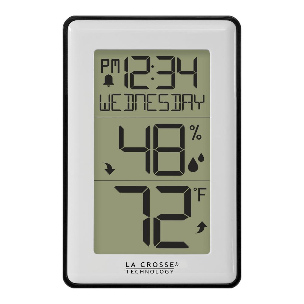 La Crosse Technology Indoor Temperature Humidity Station With Alerts And Clock