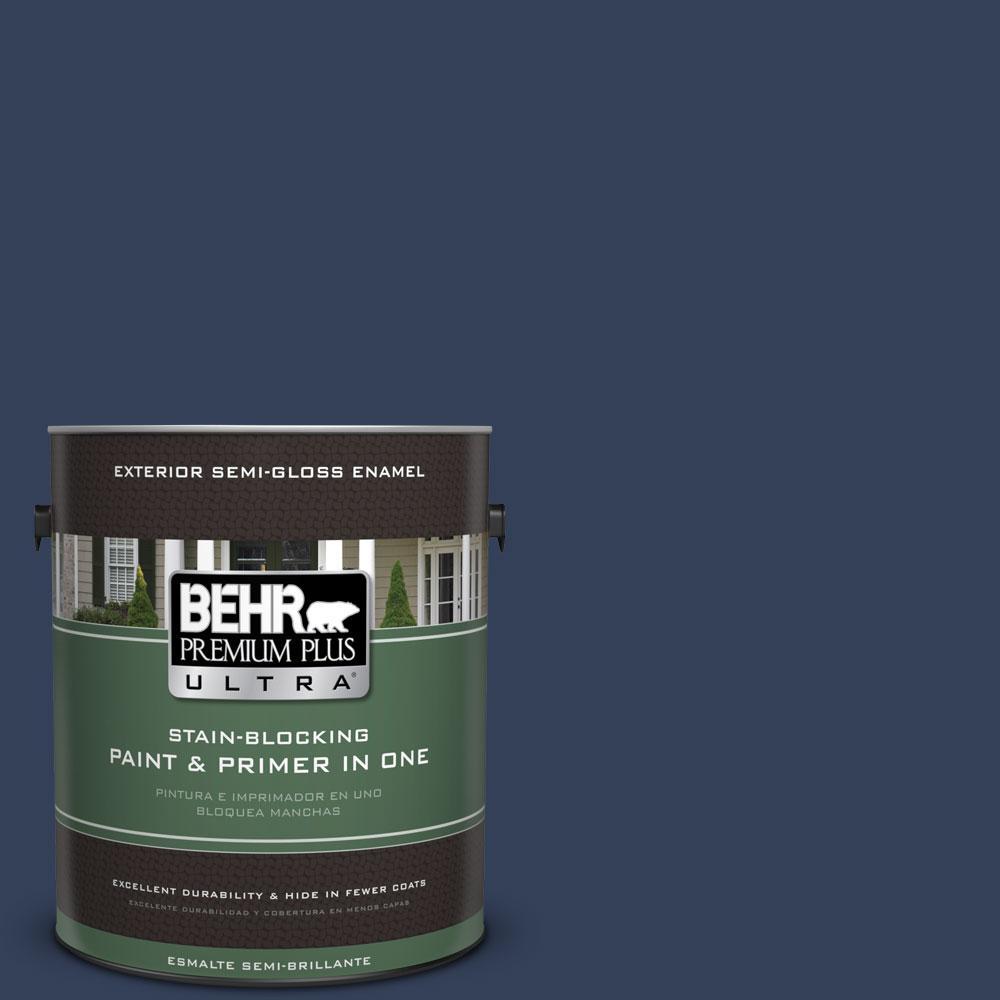 BEHR Premium Plus Ultra 1-gal. #600F-7 Soulful Music Semi-Gloss Enamel Exterior Paint