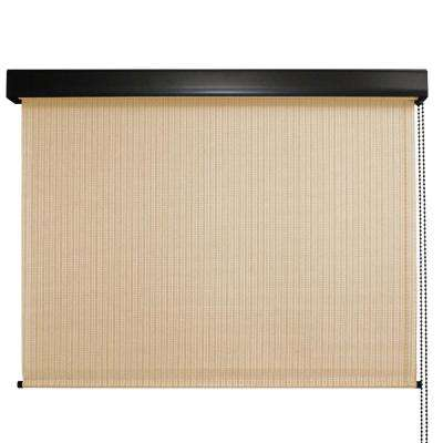 Clearwater Premium PVC Fabric Exterior Roller Shade Cord Operated with Protective Valance - 72 in. W x 96 in. L