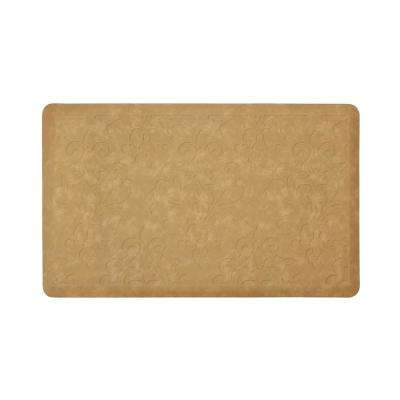 Marni Beige 32 in. x 20 in. Embossed Gelness Mat
