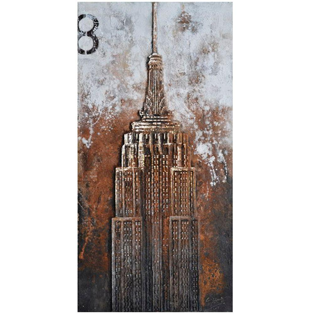 "Yosemite Home Decor 78 in. x 39 in. ""The Empire"" Hand Painted Canvas Wall Art"