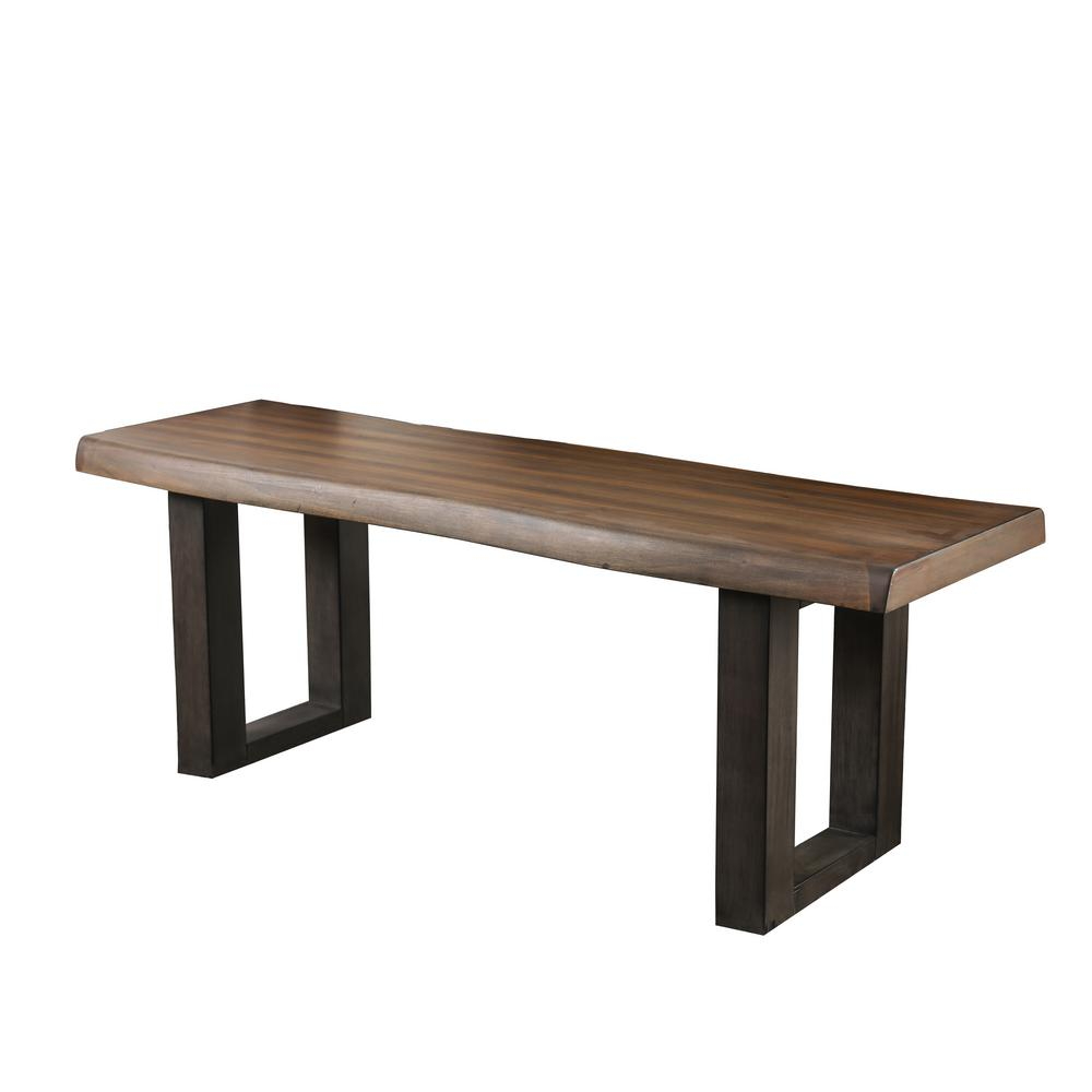 Nogales Brown Wood Bench