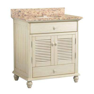 Cottage 31 in. W x 22 in. D Vanity with Vanity Top and Stone Effects in Santa Cecilia