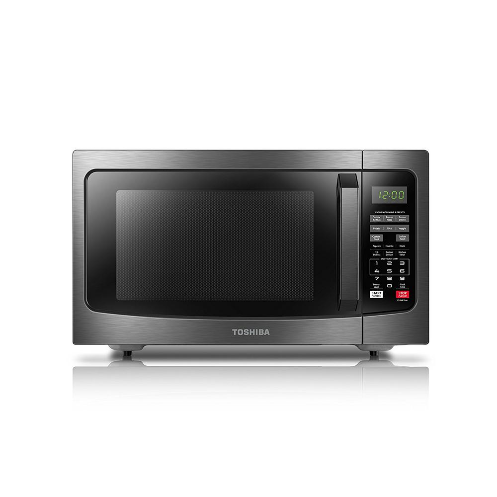 Black Stainless Steel Countertop Microwave Oven With Smart Sensor