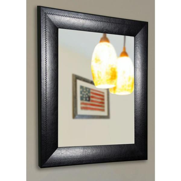 29.75 in. x 35.75 in. Luxurious Black Non Beveled Vanity Wall