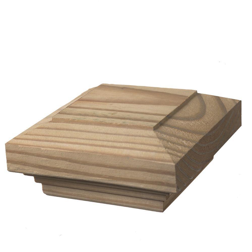 4 in. x 4 in. Wood Flat Fancy Post Cap (6-Pack)