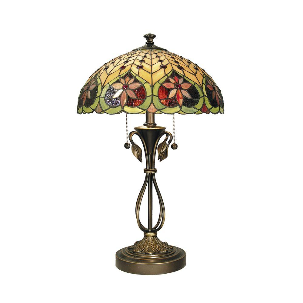 Dale Tiffany 26.75 in. Leilani Antique Brass Table Lamp