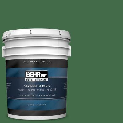 Behr Premium Plus 5 Gal M400 7 Garden Cucumber Semi Gloss Enamel Exterior Paint And Primer In One 534005 The Home Depot