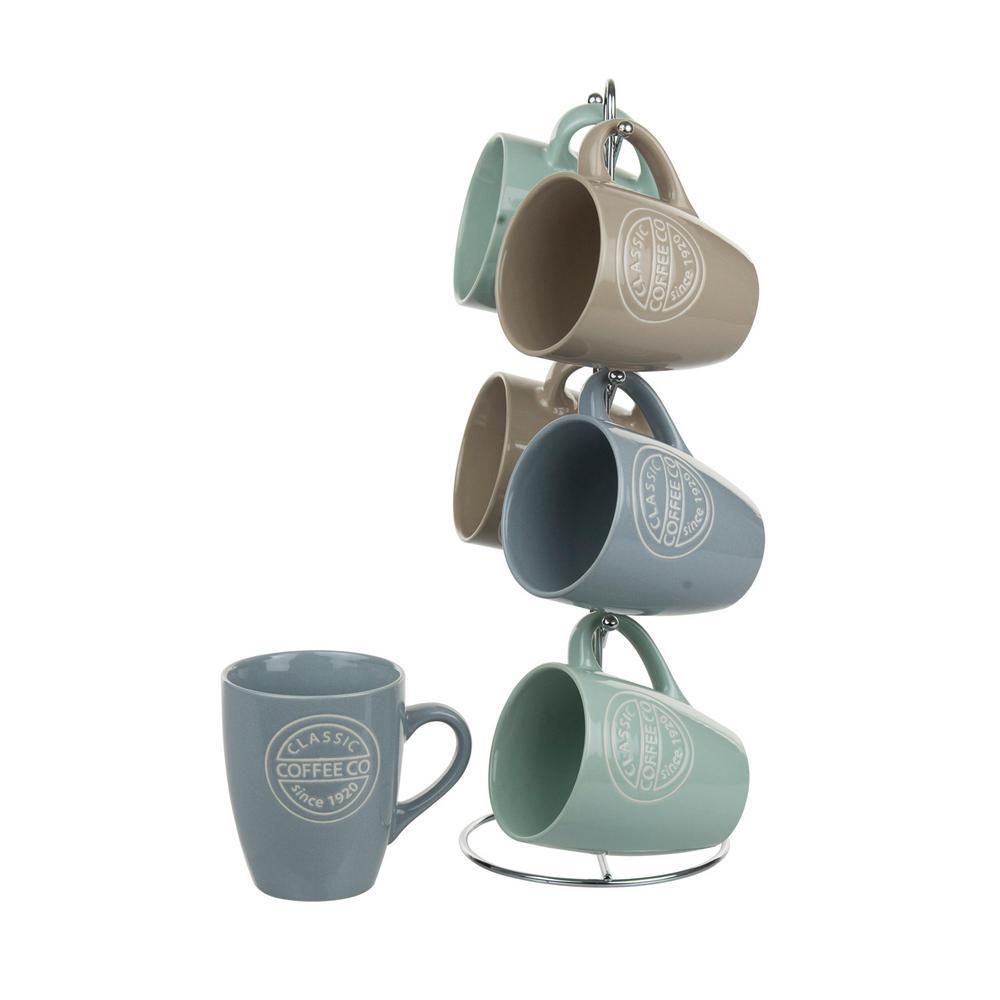 11 oz. Mug Set with Stand (6-Piece)