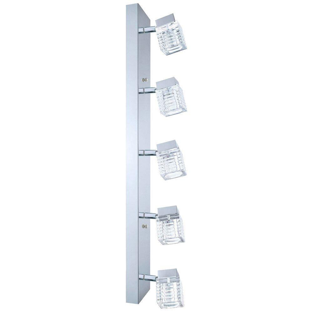 null Quarto 5-Light Chrome Wall/Ceiling Vanity Light
