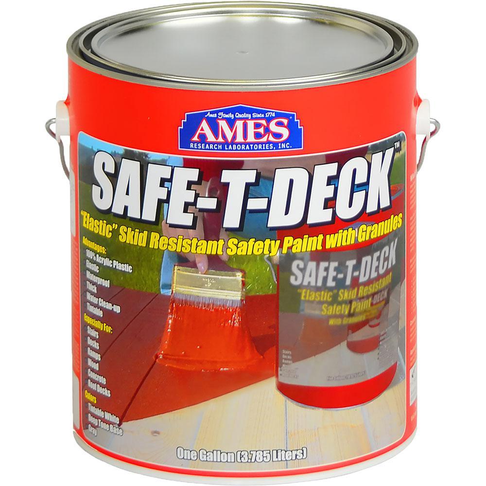 Safe-T-Deck 1 gal. Granulated-Slip Resistant Waterproof Elastomeric Deck Coating in Grey