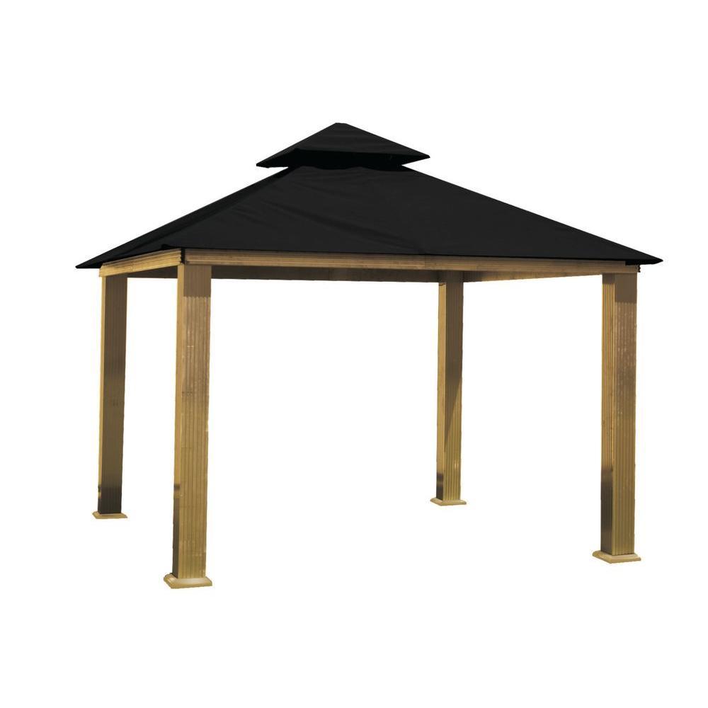 ACACIA Aluminum Gazebo With Black Canopy