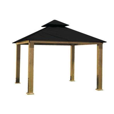 14 ft. x 14 ft. ACACIA Aluminum Gazebo with Black Canopy