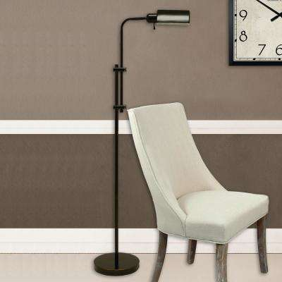 Harvey Pharmacy 60.5 in. Oil Rubbed Bronze Floor Lamp with Metal Shade