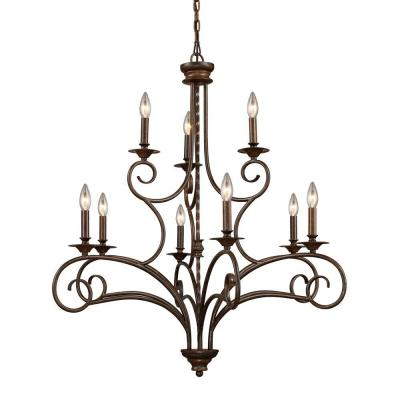 Gloucester 9-Light Antique Bronze Ceiling Chandelier
