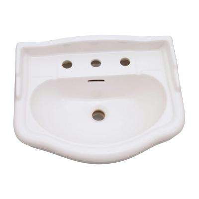 English Turn 7-3/8 in. Pedestal Sink Basin in Bisque