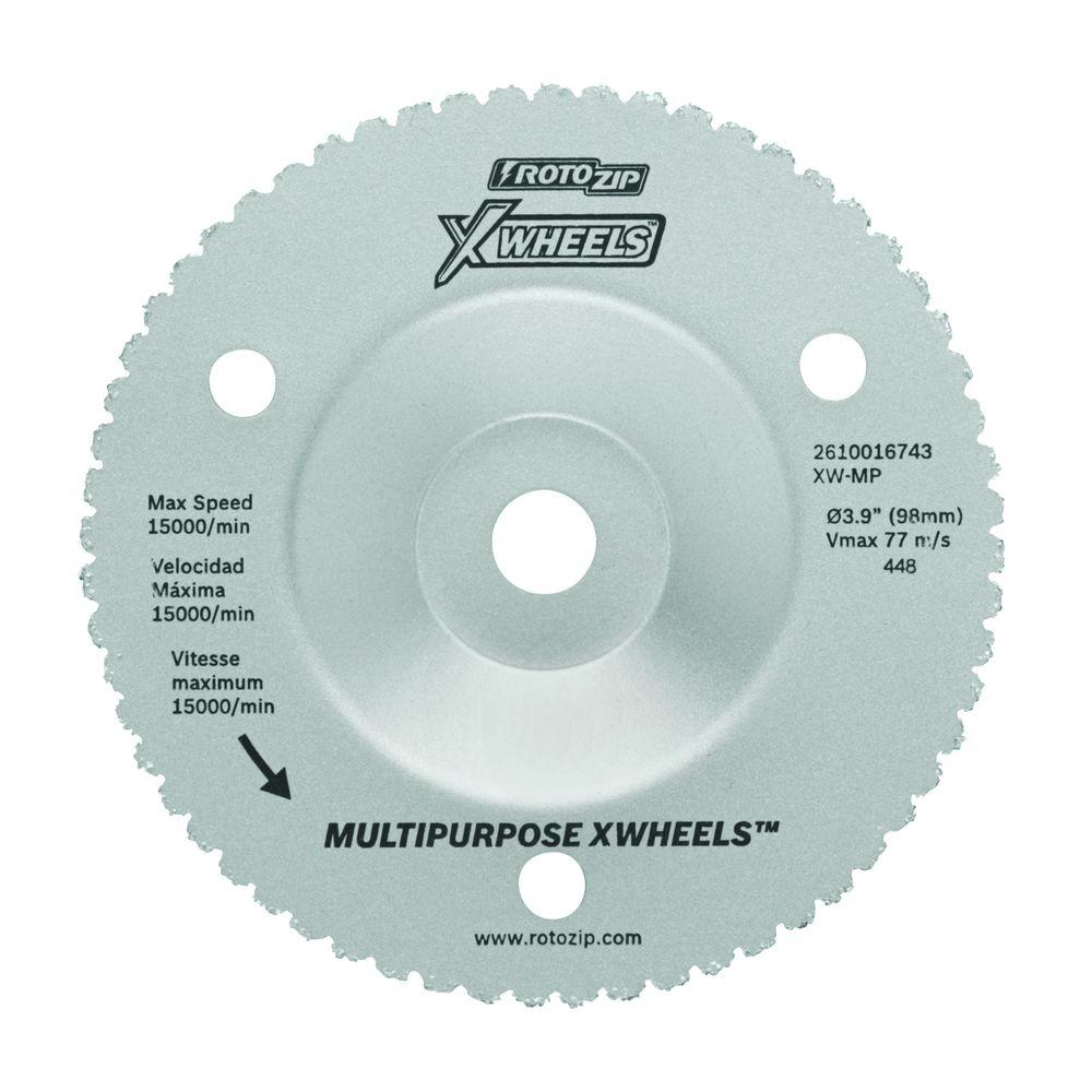 Rotozip 4 in. Multi-Purpose Carbide X-Wheels for Wood, Plastic, Drywall, Non-Ferrous Metals, and Nails
