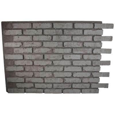Faux Reclaimed Brick 32 in. x 47 in. x 3/4 in. Panel Greystone