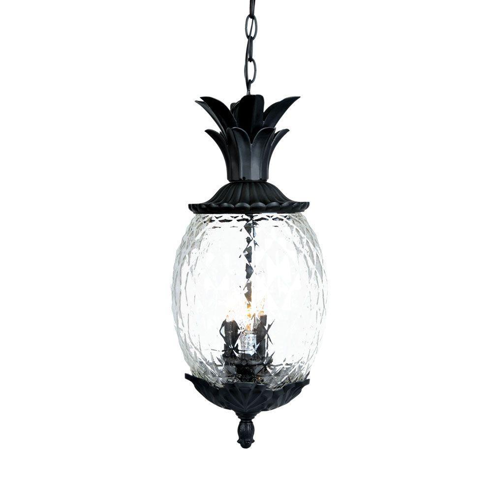 Acclaim Lighting Lanai Collection 3-Light Matte Black Outdoor Hanging Light Fixture