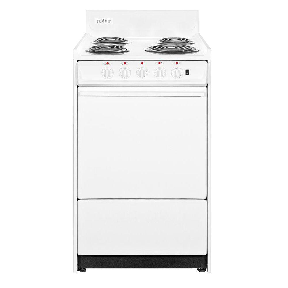 Summit Appliance 20 in. 2.46 cu. ft. Electric Range in White