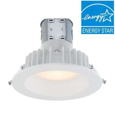 Easy Up with Direct Wire J-Box 6 in. White Integrated LED Recessed Kit, 2700K