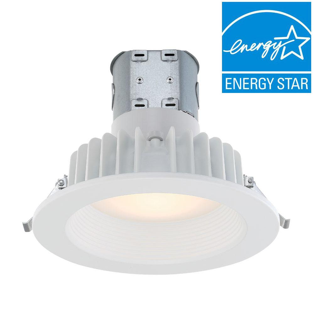 EnviroLite Easy Up 6 in. White Integrated LED Recessed Kit ...