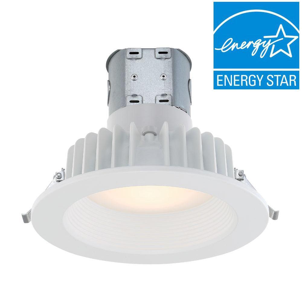 EnviroLite Easy Up 6 in. White Integrated LED Recessed Kit ...