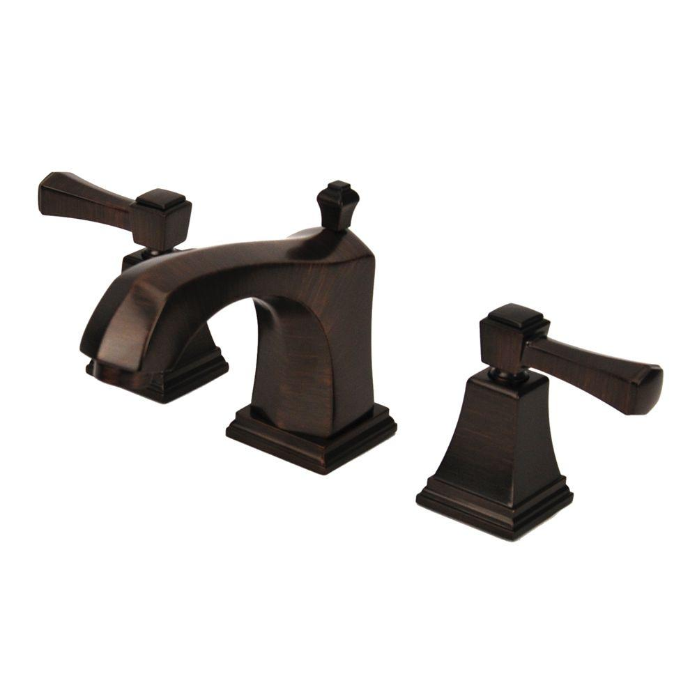 Fontaine Patera 8 in. Widespread 2-Handle Low-Arc Bathroom Faucet in Brushed Bronze with Drain Assembly-DISCONTINUED