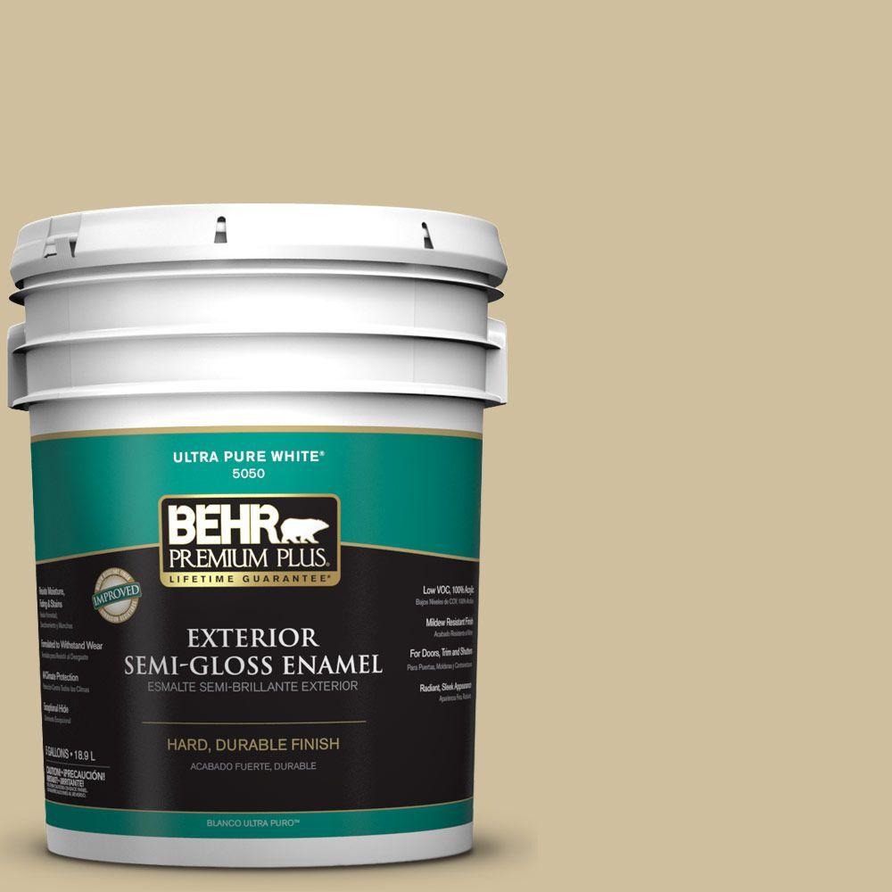 5-gal. #S320-3 Final Straw Semi-Gloss Enamel Exterior Paint