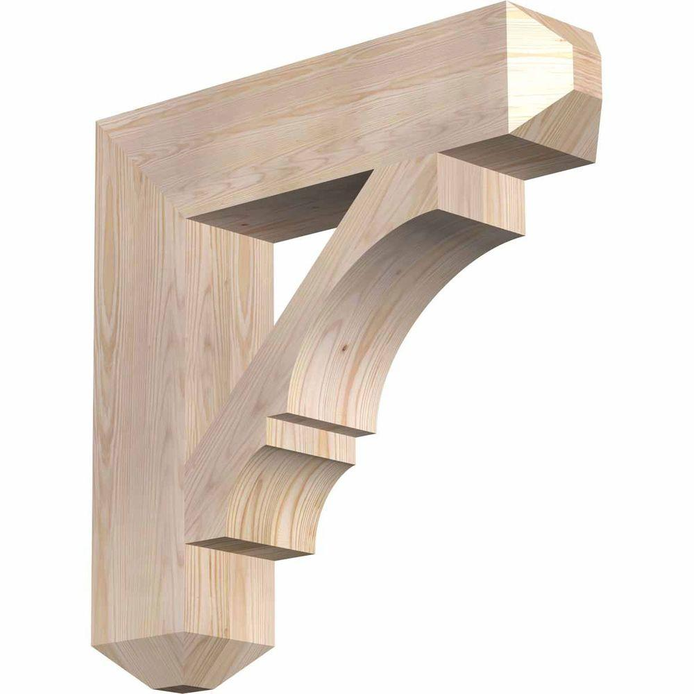 Ekena Millwork 5.5 in. x 26 in. x 26 in. Douglas Fir Balboa Craftsman Smooth Bracket