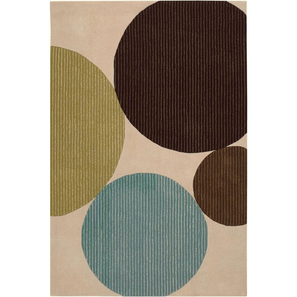 Bense Cream/Blue/Green/Brown 5 ft. x 7 ft. 6 in. Indoor Area
